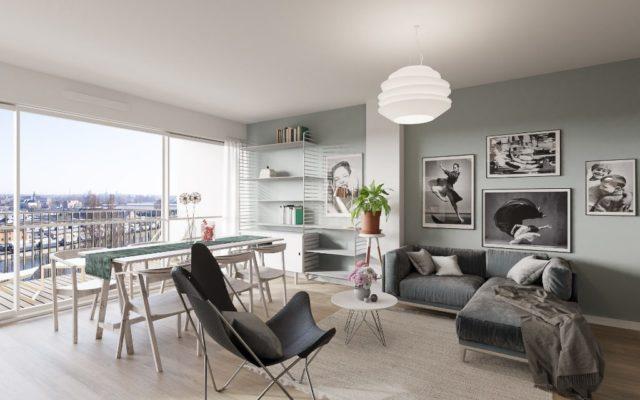 QUARTIER DES XV  appartement 3 pièces 63m²