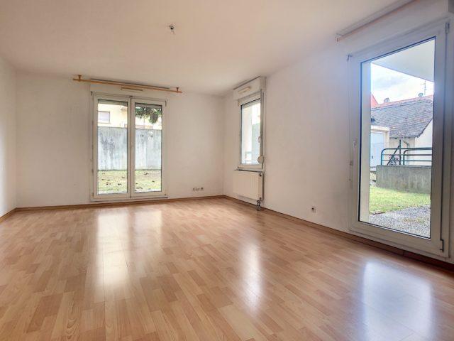 STRASBOURG NEUDORF, Appartement 3 pièces de 71m² en rez-de-jar