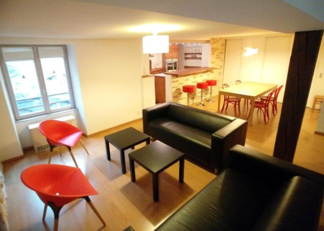 HYPER-CENTRE - spacieux 3 pces meublé tout confort de 88.46m²