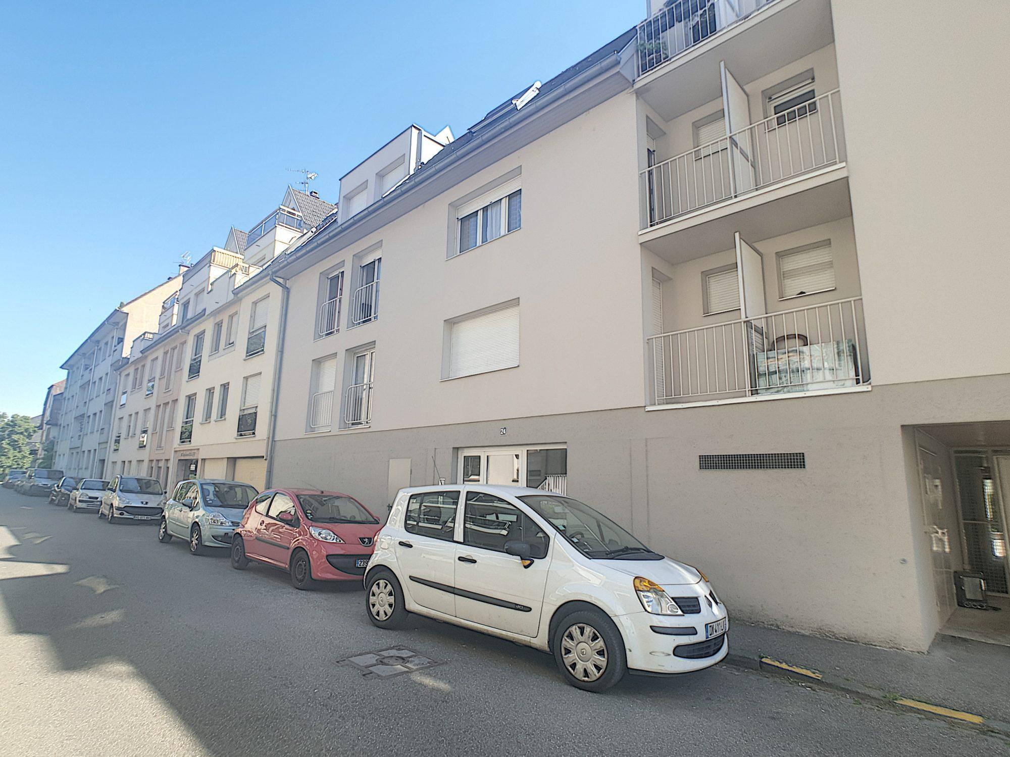 NEUDORF, Appartement 1 pièce de 21.66 m² avec parking et cave