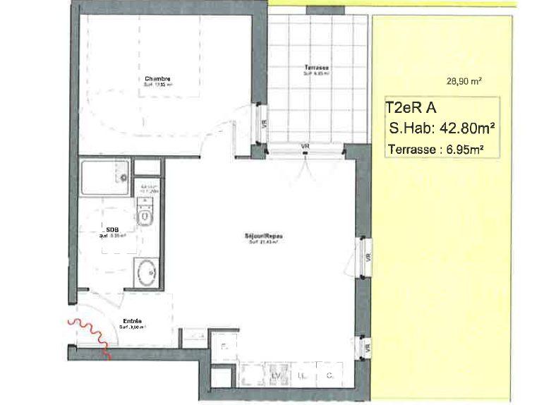 DEBUT ROBERTSAU - 2 pces neuf avec terrasse et jardin