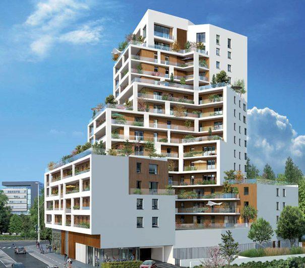 STRASBOURG PLACE DE HAGUENAU, 2 pièces 67m2, Terrasse 28m2, asc