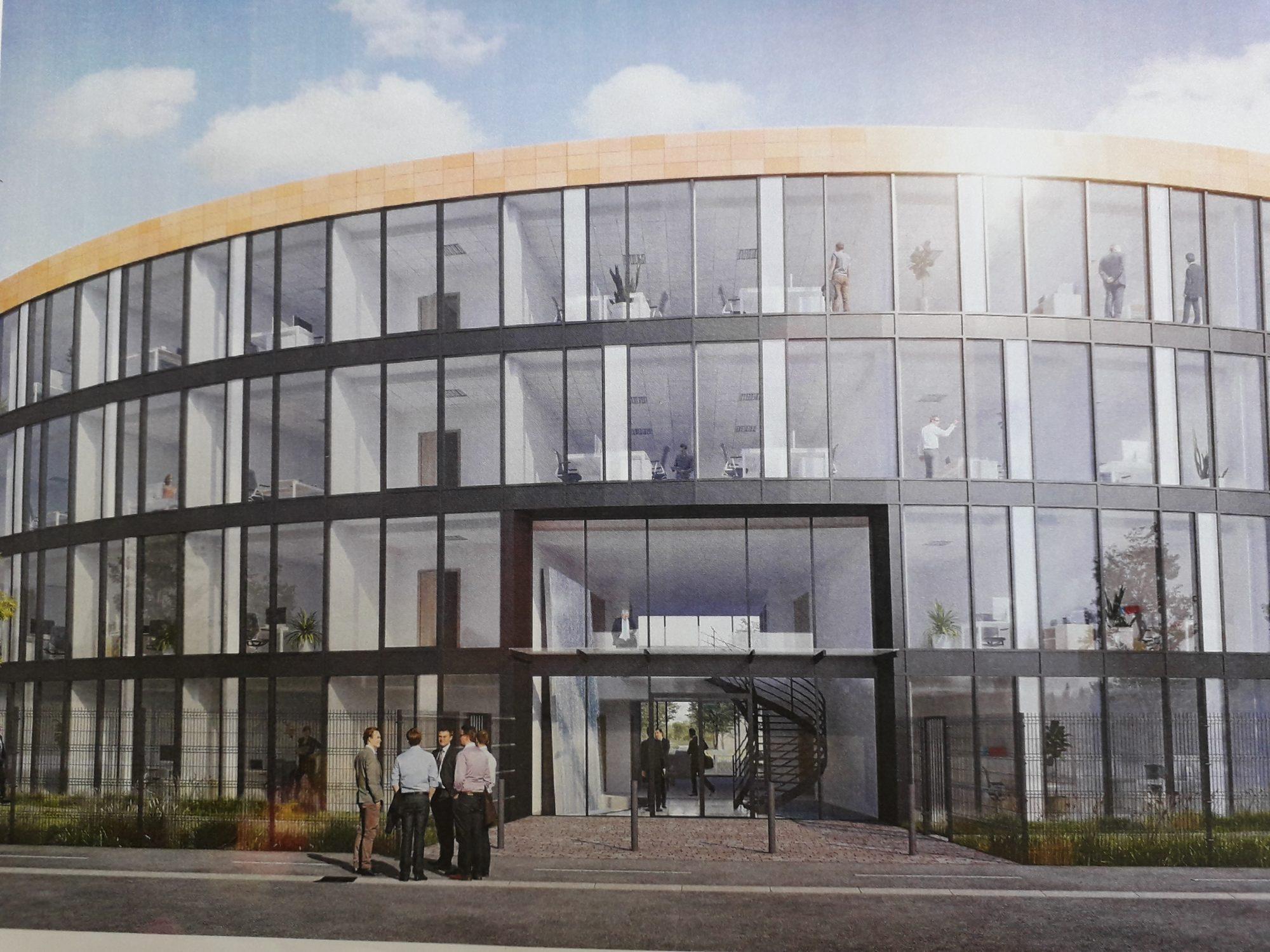 Location bureau 51 m² neufs avec faculté hall de stockage à B