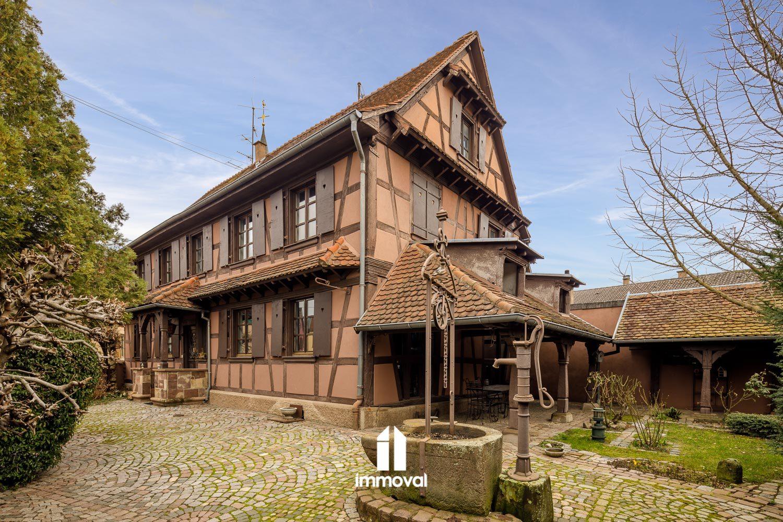Rare: maison alsacienne de 220m2 avec cour et jardin.