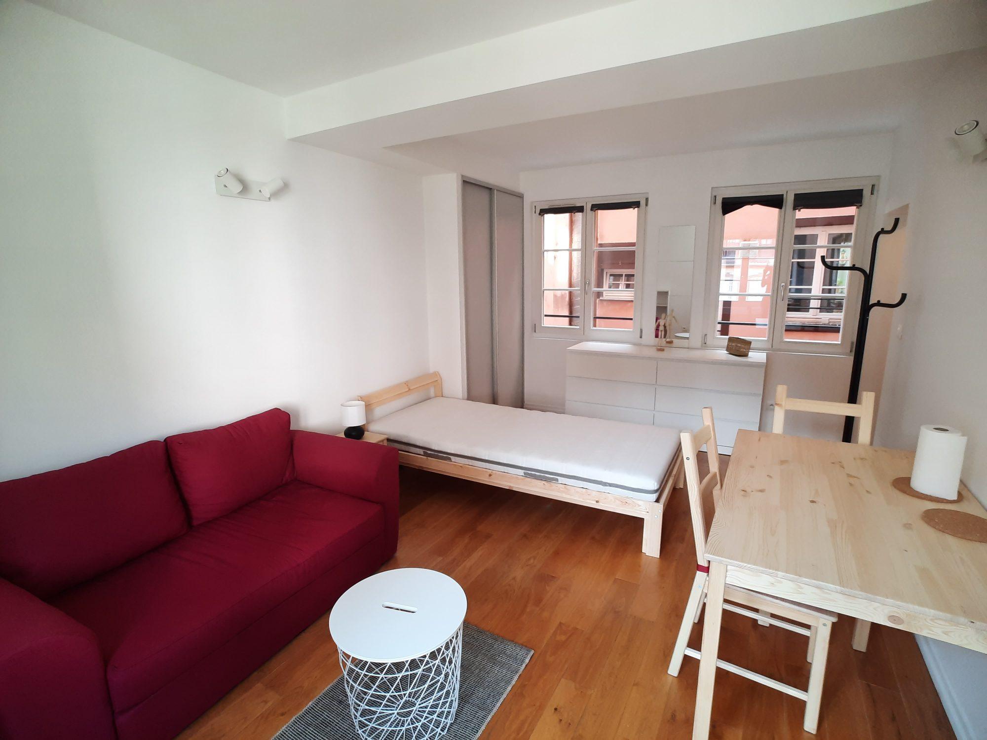 CATHEDRALE - studio meublé de 25.85m²