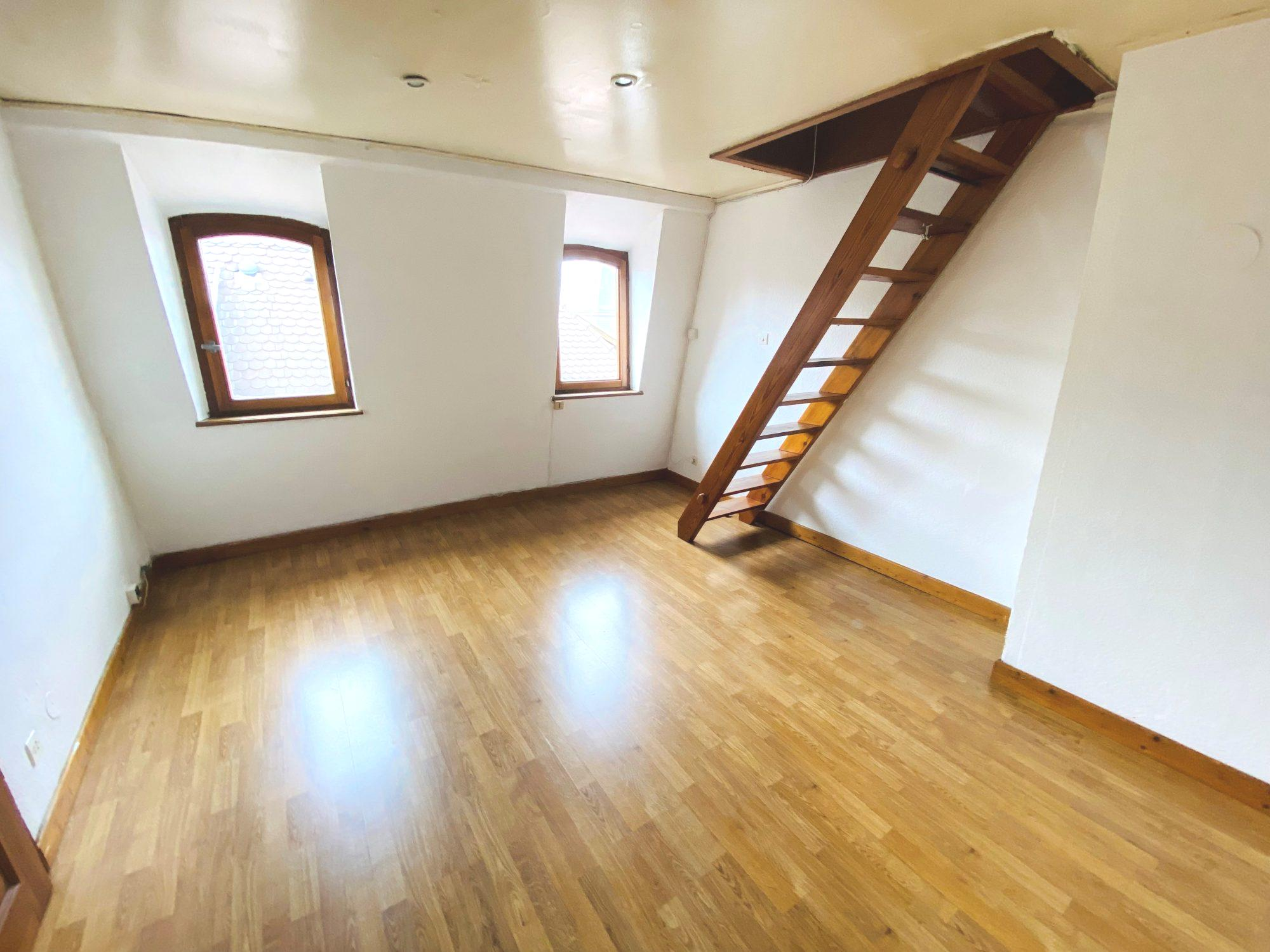 HYPERCENTRE - Duplex aux combles - 20m² hab/60m² au sol